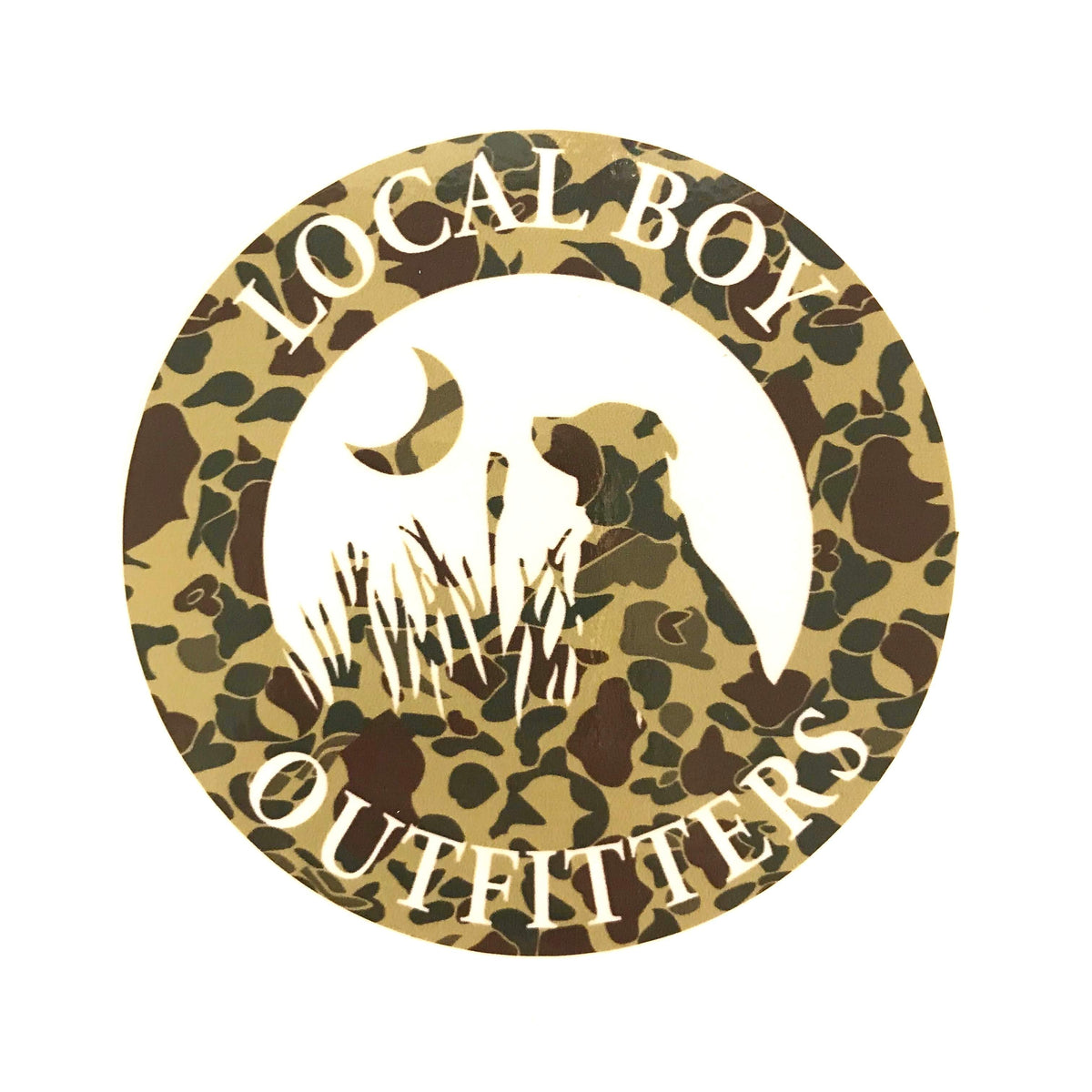 Local Boy Round Camo Decal