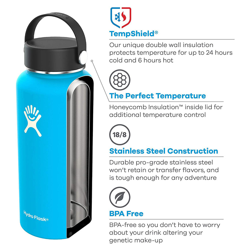 Black 32oz. Wide Mouth Water Bottle