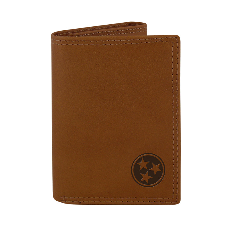 Tennessee Tri-Star Embossed Leather Trifold