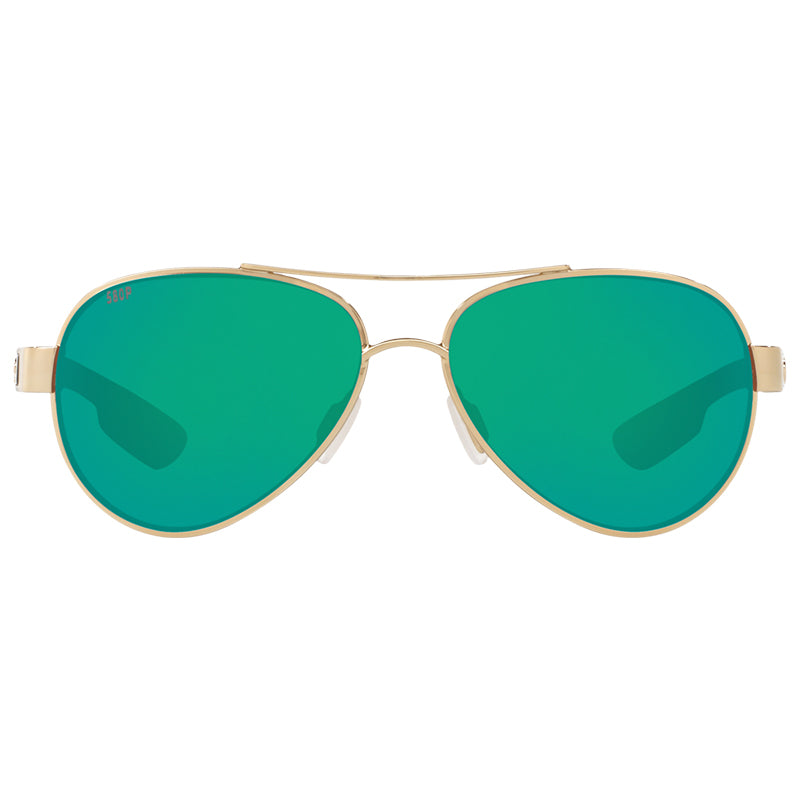 Loreto Rose Gold Frames with Green Mirrored Lens 580P