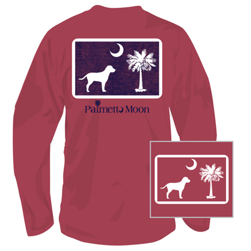 Dog Pledge To The Moon Long Sleeve T-Shirt