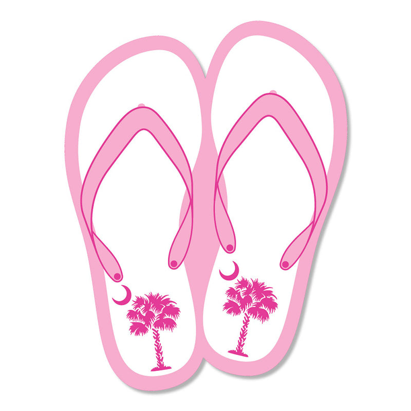 Mini Palm Flip Flop Decal