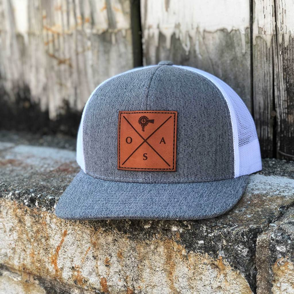Cross Leather Patch Hat