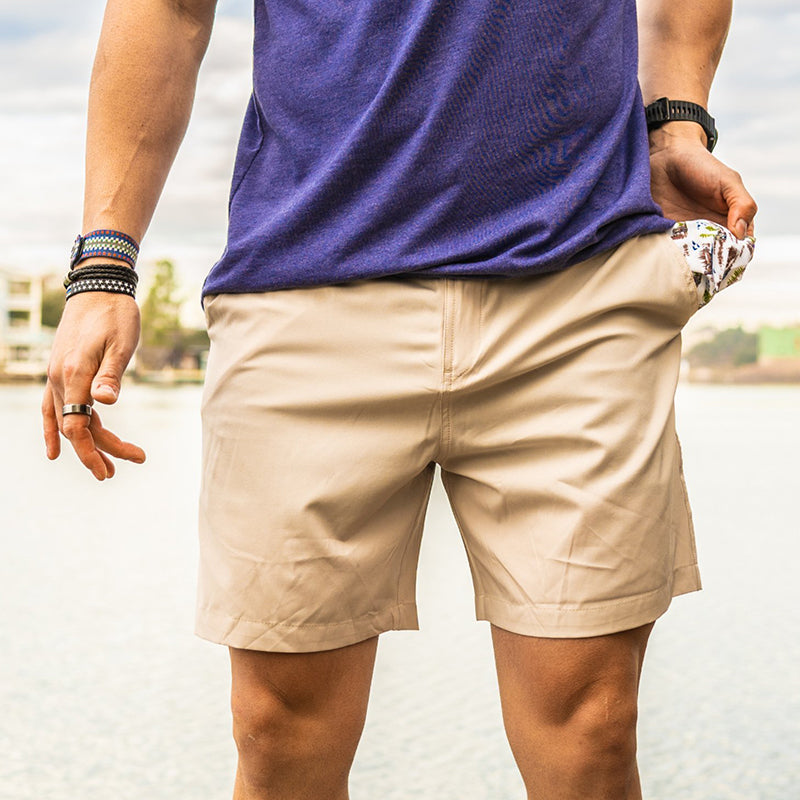Men's Light Khaki Dogs Performance Shorts
