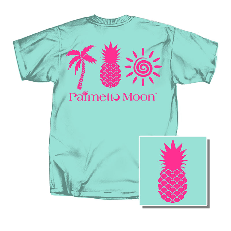 Palm, Pineapple, Sun Short Sleeve T-Shirt