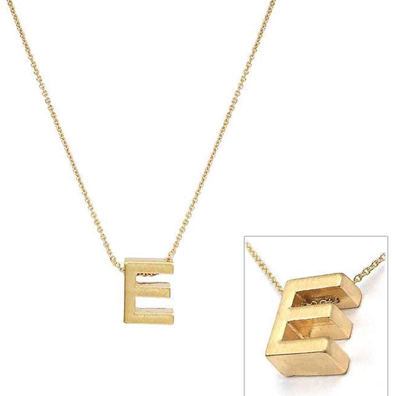 Small Gold Initial Necklace