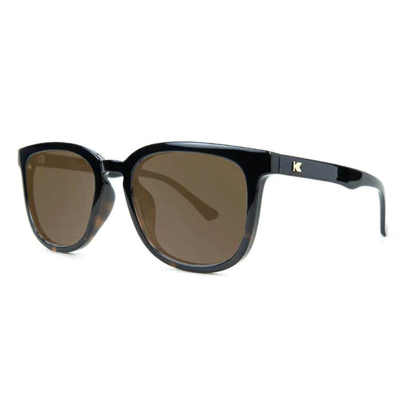 Knockaround® Paso Robles Glossy Black and Tortoise Shell Fade with Amber Lens