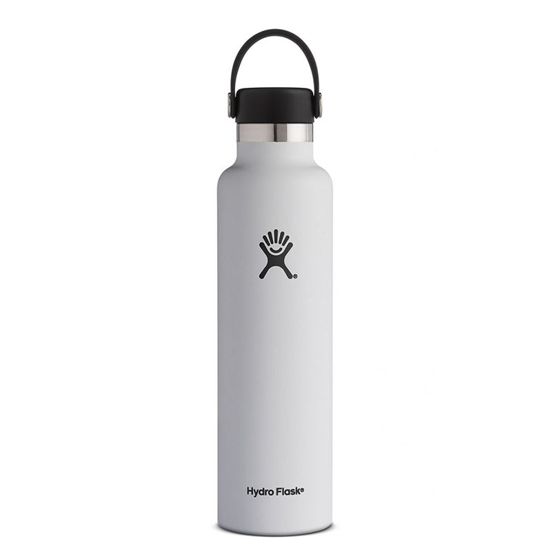 White 24oz. Standard Mouth Water Bottle