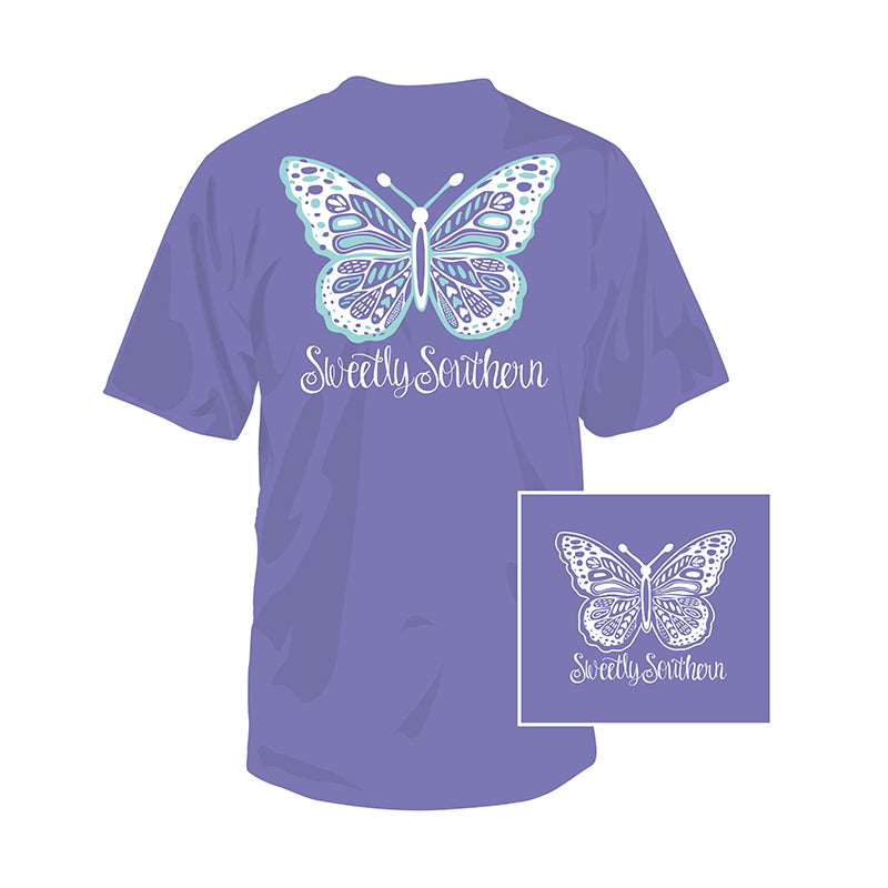 Youth Sweetly Southern Butterfly Short Sleeve T-Shirt