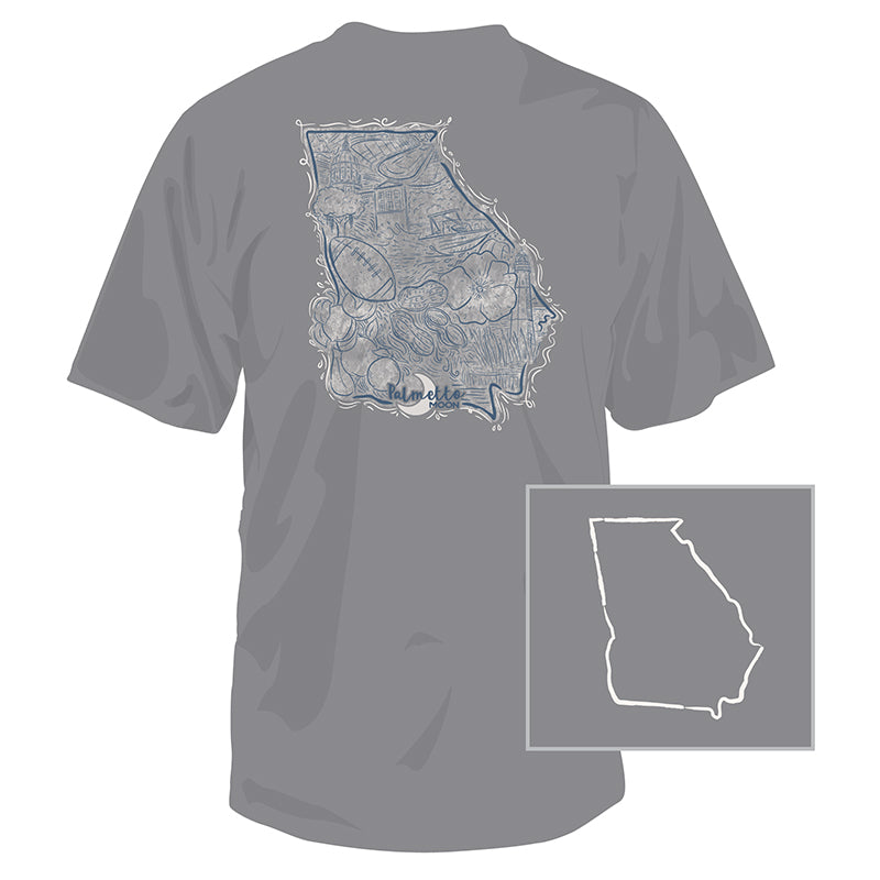 Georgia State Collage Short Sleeve T-Shirt