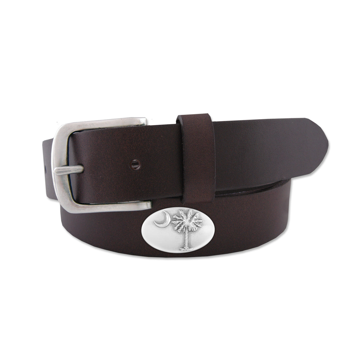 Palm Concho Leather Belt