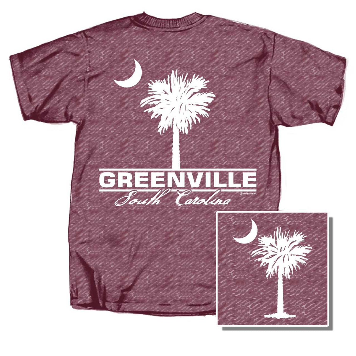 Greenville Palm Front Back Short Sleeve T-Shirt