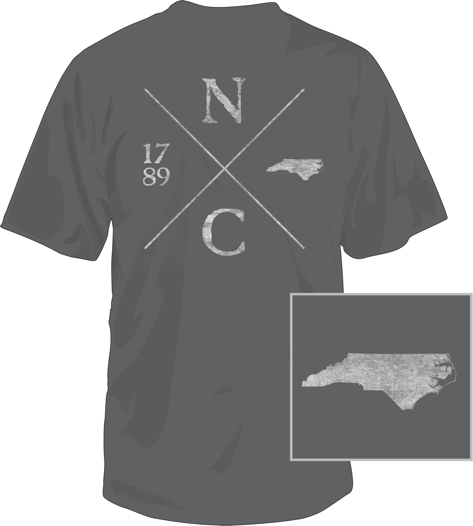North Carolina Crossing Short Sleeve T-Shirt