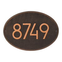 House Plaque Modern Oval