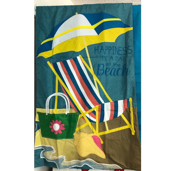 Beachy Summer Linen Flag