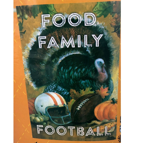 Food Family Football House Flag