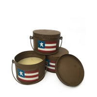 Patriotic Bucket Candle