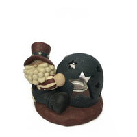 USA Santa Tea Light Holder