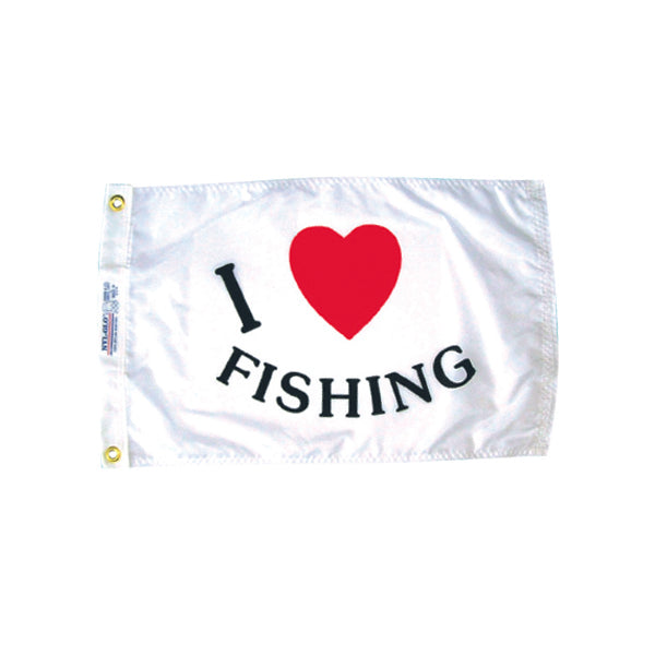 Fun I Love Fishing Flag
