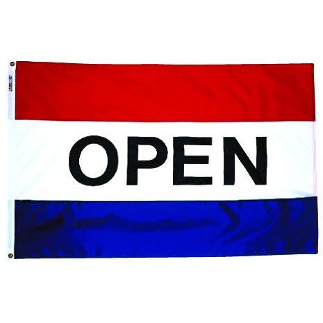 Horizontal OPEN Real Estate Attention Flag