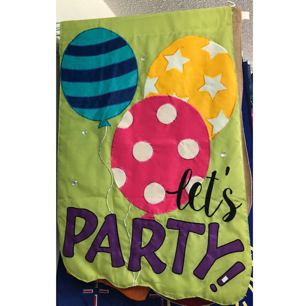 Let's Party Appliqué Flag