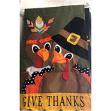 Thanksgiving Couple House Flag