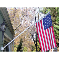 Mounted Two-Piece Rotating Flagpole 6'