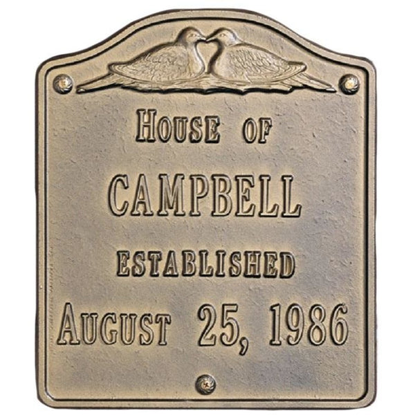 House Plaque Established Large