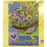 Floral Welcome House Flag