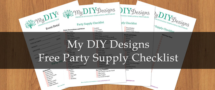 Free Party Supply Checklist