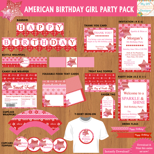 American Girl Printable Party Decorations