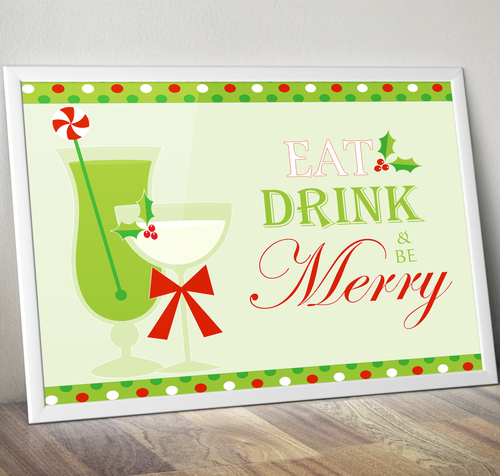Eat, Drink & be Merry Downloadable Wall Art