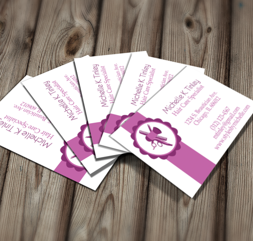 Microsoft Word Beautician Business Card Template