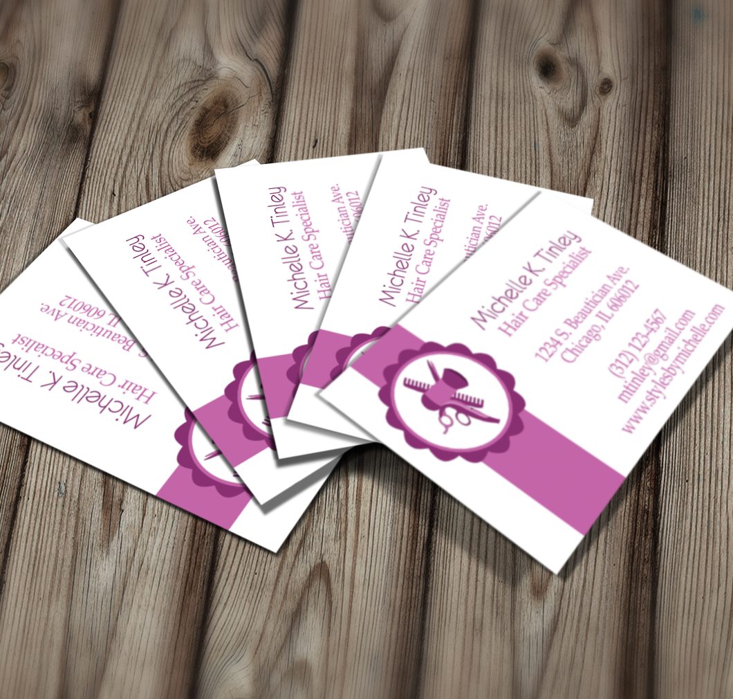 Beautician Business Card - Download & Edit Template - Creative By Design Group