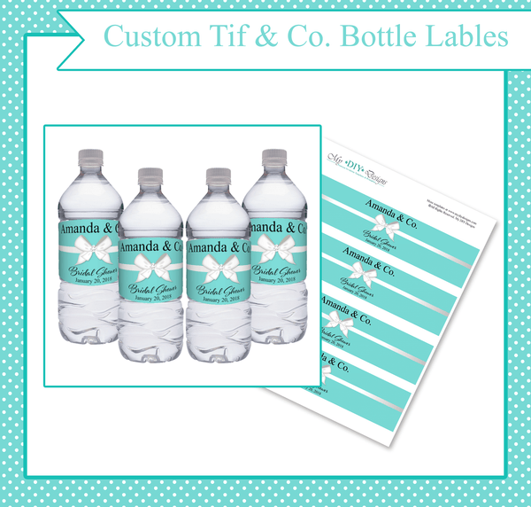 Tiffany & Co. Present Bottle Labels - Custom Editing
