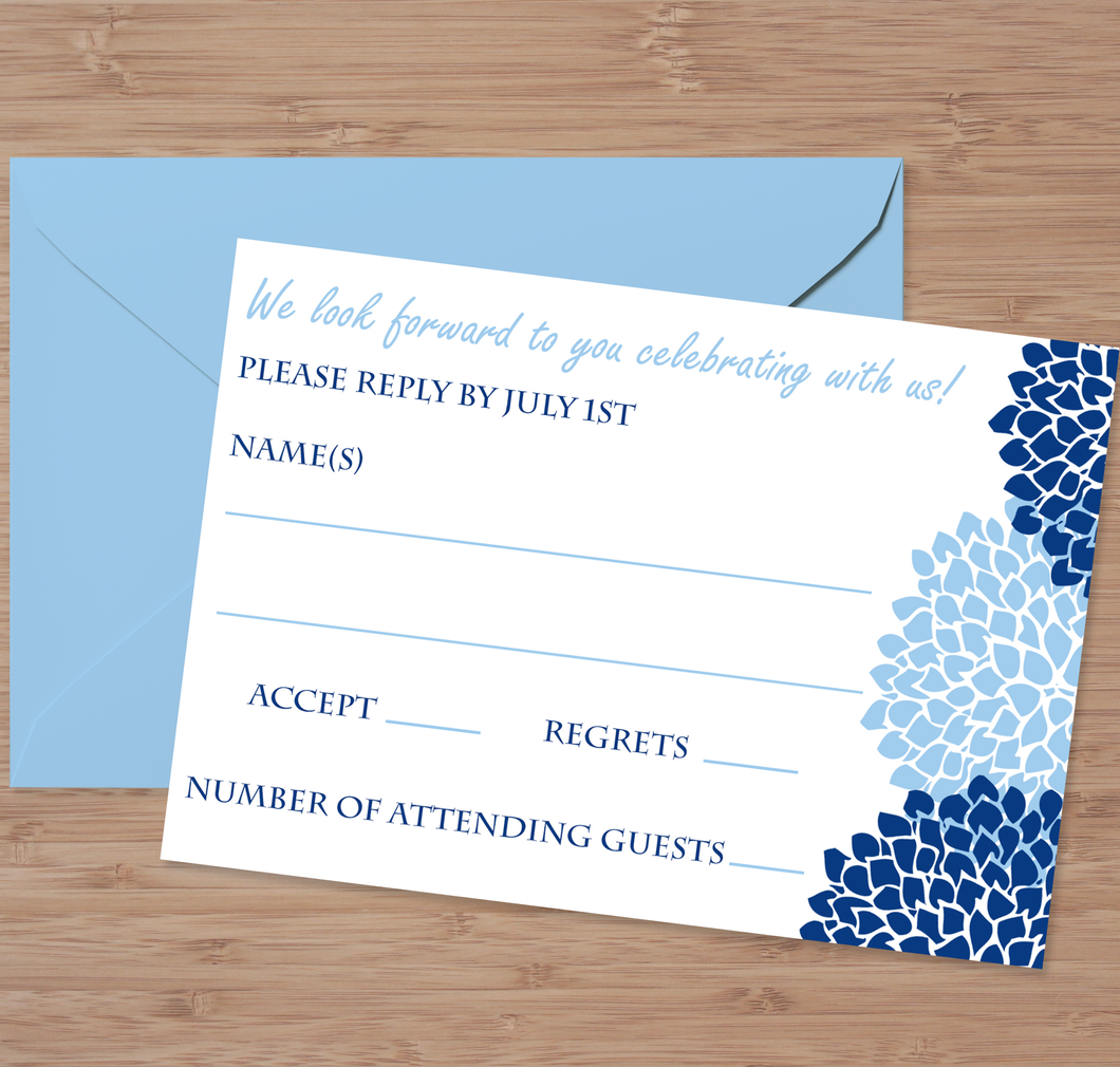Pom Pom Wedding Reply Card - Custom Editing - Creative By Design Group