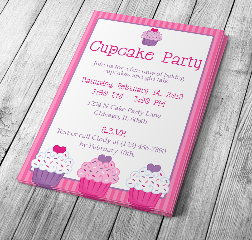 Microsoft Word Bakery Flyer or Cupcake Party Invitation | My DIY ...