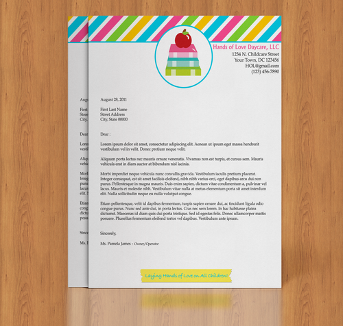 Microsoft Word Daycare Business Letterhead Template