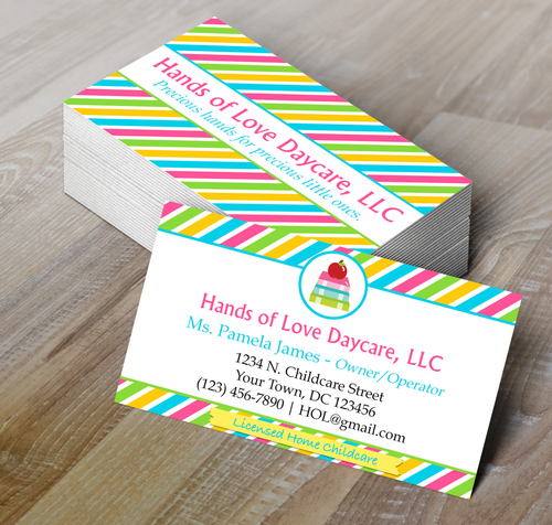 Microsoft Word  Childcare or Daycare Business Card Template