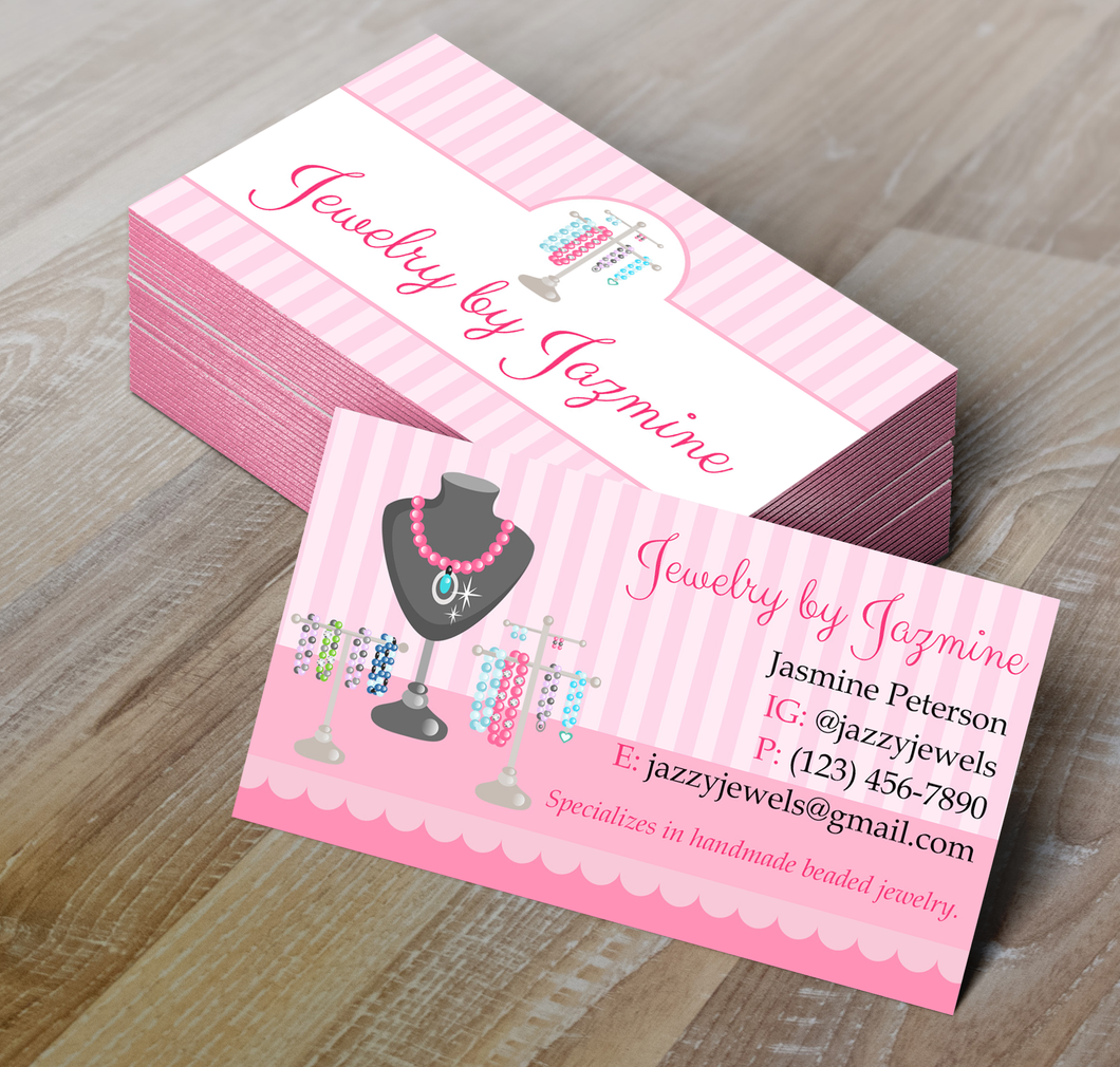 Microsoft Word Jewelry Business Card Template | My DIY Designs