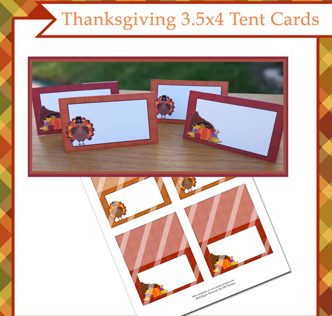 Thanksgiving Foldable Tent Card