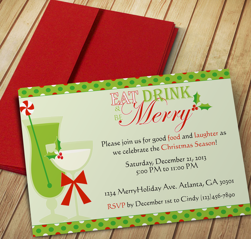 Eat, Drink & be Merry Invitation
