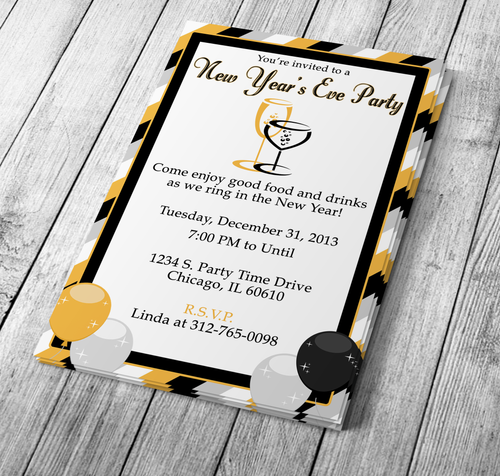 Microsoft Word New Years Eve Party Invitation Template