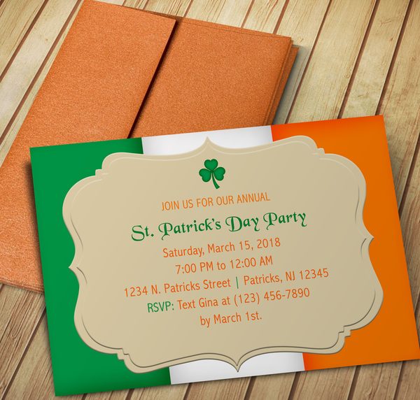 St. Patrick's Day Invite - Drag & Drop Online Editing - Creative By Design Group