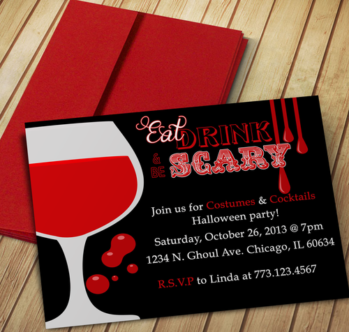 Eat, Drink & be Scary Invitation