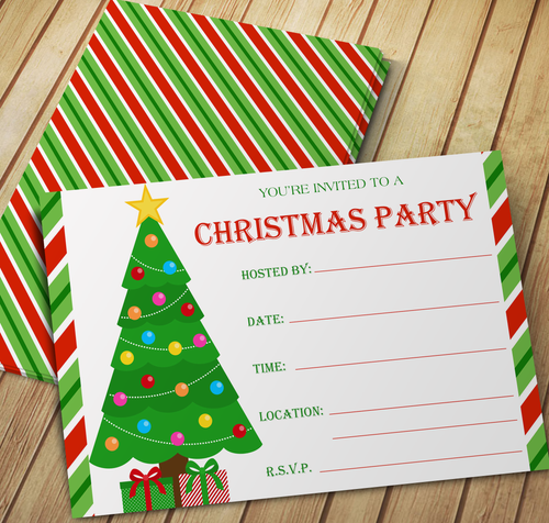 Christmas Tree Party Invitation