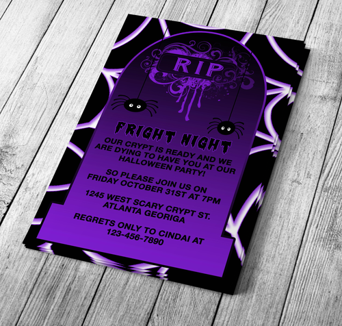 Gravestone Halloween Invitation
