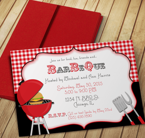 Family BBQ Invite - Download & Edit Template - Creative By Design Group