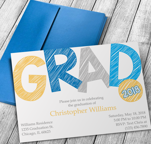 Microsoft Word Sketch Graduation Party Invitation Template