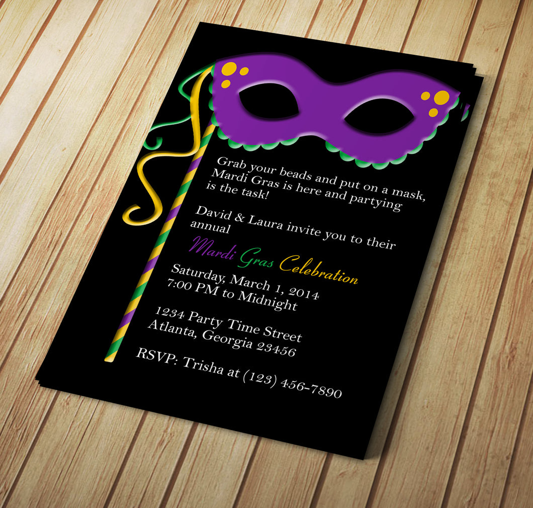 Microsoft Word Mardi Gras Invitation Template